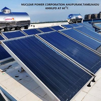 industrial solar water heater image